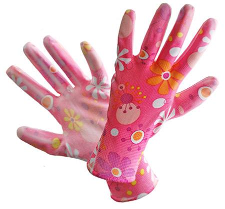 6-7 8-9 6 Paar Gartenhandschuhe Handschuhe Damen Nitril Größe