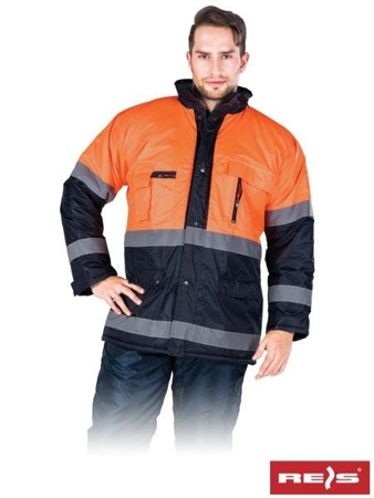 Warnschutzjacke Arbeitsjacke Regenjacke Winter Reflexstreifen Blau FL-WIN-NB